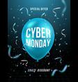 cyber monday 3d background modern design vector image vector image