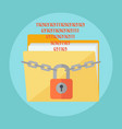 data protection concept vector image vector image