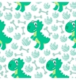 Dinosaur Rex seamless pattern vector image vector image