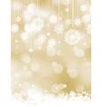 Elegant christmas bokeh snowflakes EPS 8 vector image vector image