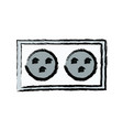 energy electricity socket power connector vector image vector image