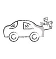 figure paint car gun to service repair vector image