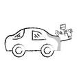figure paint car gun to service repair vector image