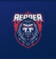 grim reaper mascot logo vector image vector image