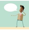 Handsome businessman emotional talking on phone vector image vector image