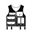 Hunter vest black simple icon vector image vector image