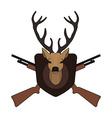 Hunting trophy taxidermy deer head vector image vector image
