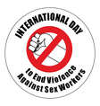 International Day to End Violence Against Sex vector image vector image