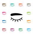 isolated eyelash icon eyelid element can vector image vector image