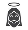 jesus glyph icon easter and holiday christ sign vector image vector image