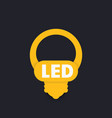 led light bulb icon vector image