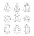 line style terrariums for succulent plants set vector image vector image