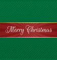 merry christmas red tag vector image vector image