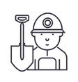minerworker line icon sign vector image vector image