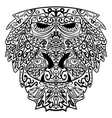 monkey stylized zentangle style ethnic monkey vector image vector image