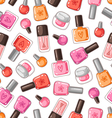 Nail polish seamless pattern vector image