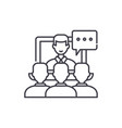 online lecture line icon concept online lecture vector image vector image