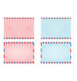 pink and blue closed post letter vector image vector image