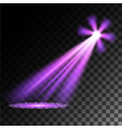 purple spotlights vector image vector image
