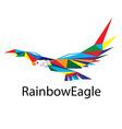 Rainbow Eagle Logo vector image vector image
