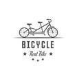 rent bike logotype vector image vector image