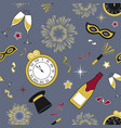 seamless new years pattern in cool gray vector image