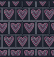 seamless pattern graphic heart tiles vector image vector image