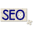 search engine optimization sign vector image vector image
