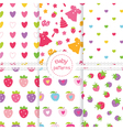 Set of baby patterns 2 vector image vector image