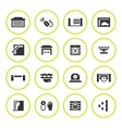 Set round icons of automatic gates vector image
