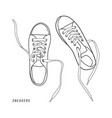 shoes isolated on white vector image vector image