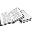 sketch of two books vector image vector image