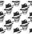 Smoking skull seamless pattern vector image vector image