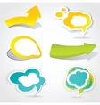 Speech cloud bubble Green background vector image vector image