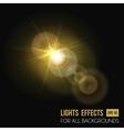 Sunbeam shining through lens sun light effect vector image vector image