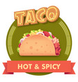 taco or label for menu vector image