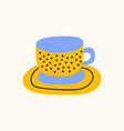 tea or coffee cup cartoon doodle stock icon in vector image