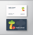 topic cloud abstract logo and business card vector image vector image