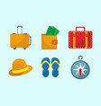 travel stuff icon set vector image vector image