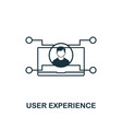 user experience icon thin outline style design vector image vector image