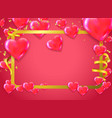 valentines background with blur hearts greeting vector image vector image