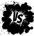 Versus letters logo Black V and S on white splash vector image vector image