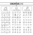 weather user interface and multimedia icons vector image vector image