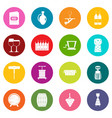 wine icons many colors set vector image vector image