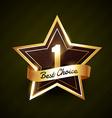 number one best choice golden label design vector image