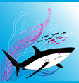 a large shark vector image vector image