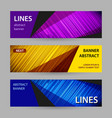 abstract bright banner with lines on dark vector image vector image