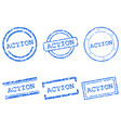 action stamps vector image