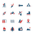 active recreation icon set vector image