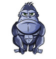angry gorilla cartoon isolated on white background vector image